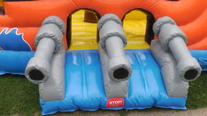 Pirate Bounce House Slide Combo