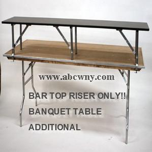 8ft Bar Top Riser(Banquet Table NOT Included)