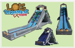 Extreme Log Jammer Dynamite Line Commerial Inflatable Classic Moonwalk
