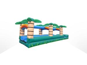 35' Tropical Dual Lane Inflatable Slip n Slide