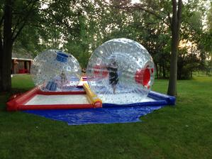 Human Hamster Zorb Ball Racetrack with (2) Zorb Balls - 2 Hours & 4 Hour Staffed Events Available