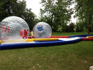 Human Hamster Zorb Ball Racetrack with (2) Zorb Balls - 2 Hours STAFFED