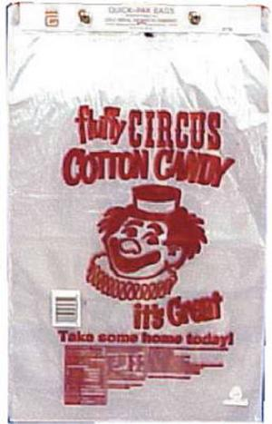 Clown Print Cotton Candy Pak Bags (100 Ct. Pack)