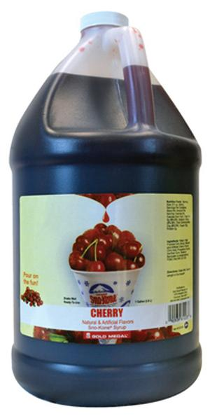 Sno-Cone Syrup Cherry 1 Gallon (Makes 80-90 Cups)