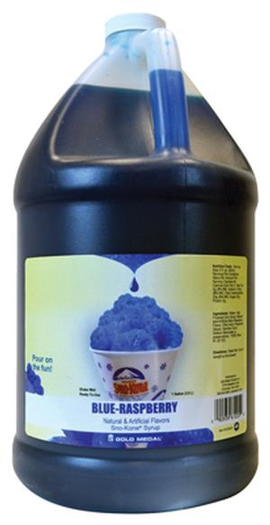 Sno-Kone Syrup Blue Raspberry 1 Gallon (Makes 80-90 Cups)