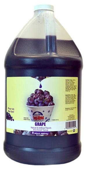 Sno-Cone Syrup Grape 1 Gallon (Makes 80-90 Cups)