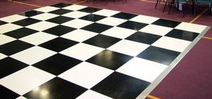 12 x 12 Black and White Dance Floor