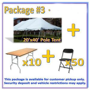 Pickup Party Rental Package #3