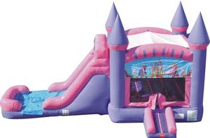 Princess Bounce House Wet/Dry Slide Combo