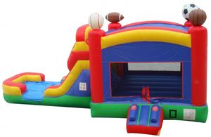 Sports Bounce House Wet/Dry Slide Combo